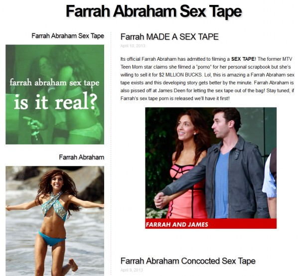 farrah abraham porn